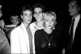 "Neil Barry, Matt Dillon,Jenny Wright== The""Out of Bounds"" Premiere Party== Revolution, NYC== July 23, 1986== � Patrick McMullan=="